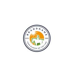 Logo design horse training vector