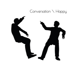Man in conversation happy talk vector