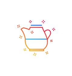 Milk jug for coffee icon fresh drink sign vector
