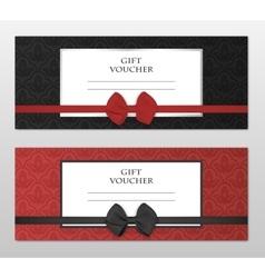modern gift voucher template set vector image
