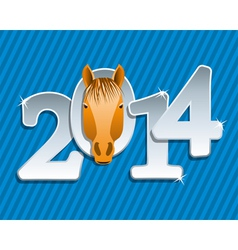 new year horse vector image