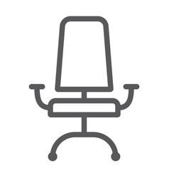 office chair line icon furniture and office vector image