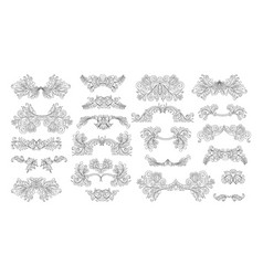 ornate set vintage elements vector image