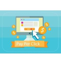 Pay per click internet advertising model vector image