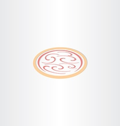 pizza icon logo vector image