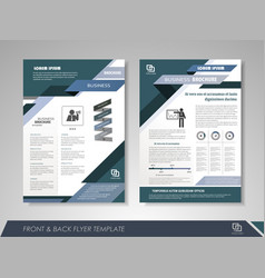 presentation flyer design template vector image