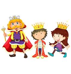 Royal family vector image