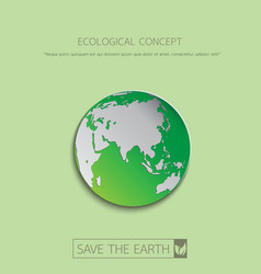 Save the eco earth vector