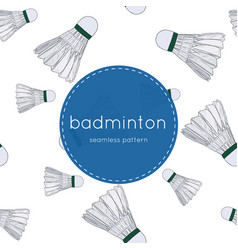 Shuttlecocks - badminton concept hand drawn vector