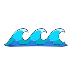 Small waves icon cartoon style vector
