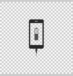 Smartphone battery charge icon isolated vector