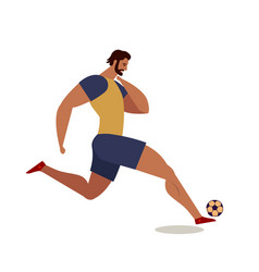 Soccer players football flat vector
