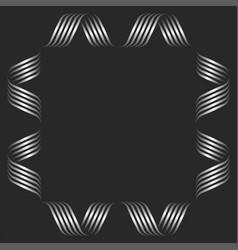 Square shape blank frame monogram mockup curved vector