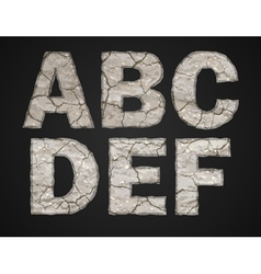 Stone letters set vector