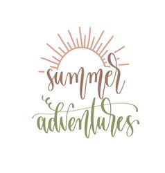 summer adventures - hand lettering inscription vector image