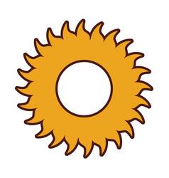 Summer sun weather icon vector