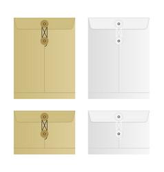 tied sealed letter envelopes set isolated on white vector image