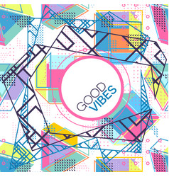 Trendy card memphis style design abstract vector
