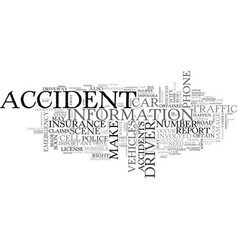 What to do when you re in a car accident text vector