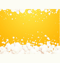 white bubbles on yellow background vector image