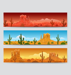 wild nature desert mexican landscape banners vector image
