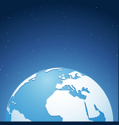 world globe in space vector image