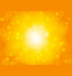 yellow summer brightly background with circles vector image