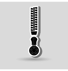 zipper isolated design vector image