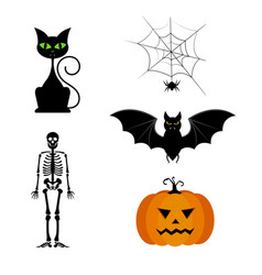 collection of different cute black vector image vector image