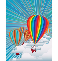 Colorful hot air balloons vector image vector image