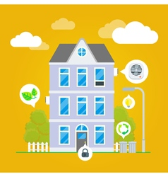 Flat house infographic vector