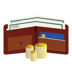 Money wallet vector image vector image
