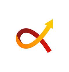 alfa symbol arrow logo vector image