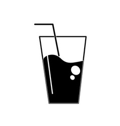 contour water glass to freshness and healthylife vector image vector image