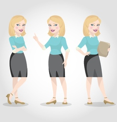 female character caucasian business woman vector image vector image