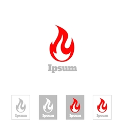 Fire flame logo design template Corporate vector image