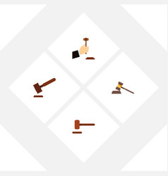 flat icon court set of court law defense and vector image vector image