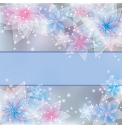 Greeting or invitation card floral background vector image vector image