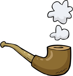 pipe with smoke vector image