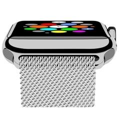 Silver photorealistic smart watch vector image