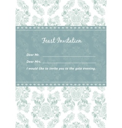 vector pattern and frame template vector image vector image