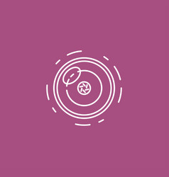 camera lens line icon for infographic website or vector image vector image