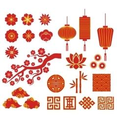 Chinese Korean or Japan icons for Chinese New vector image vector image