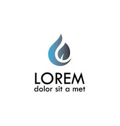 drop leaf logo vector image