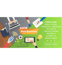 new business or start up concept with office vector image