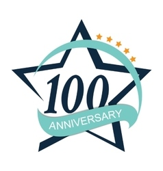 Template Logo 100 Anniversary vector image vector image