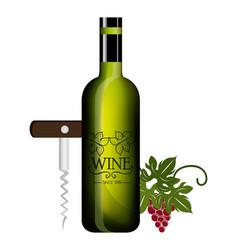 Wine label design isolated vector