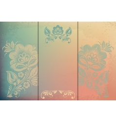 Beautiful floral invitation card eps10 vector image