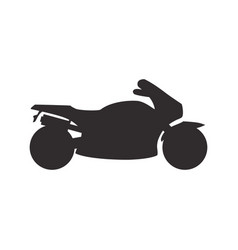 bike pictogram silhouette vector image vector image