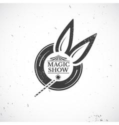 Circus vintage magic show vector image vector image